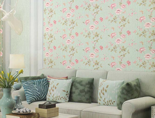2018 Flower cartoon picture waterproof pvc vinyl wallpaper for home room decoration